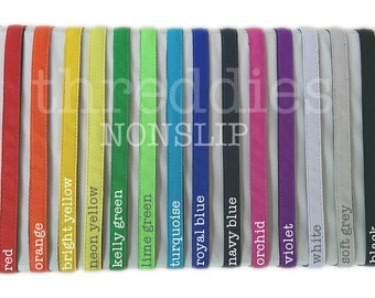 nonslip headband // adjustable elastic back // choose from 27 colors and metallics // wholesale nonslip headbands // non slip headbands