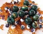 Dolomite, Wood, Czech Glass and Glass Bead Mix - Destash