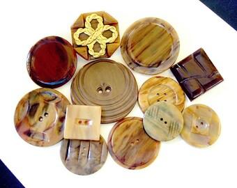 Lot of Various Vintage Casien Plastic Buttons