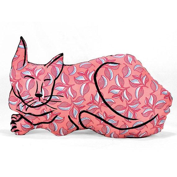 Large Animal Shaped Pillows : decorative pillow cat pillow animal pillow big relaxed cat