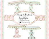 Shabby Chic Cake Stands Graphics
