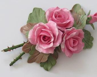 Cold Porcelain Floral  Table Arrangement