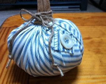 Fall fiber ticking fabric pumpkin