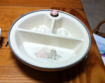 Vintage Three section baby dish