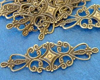 Sale 10pcs 65mm Antique Bronze Filigree Wraps A-102