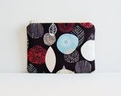 Coin Purse, Small Zipper Pouch, Nature Trail Bark & Branch by Eloise Renouf for Cloud 9 Organic Cotton Fabrics