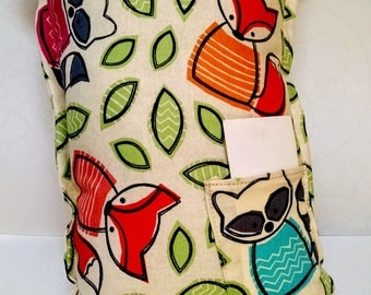 Tooth Fairy Pillow with Foxes and Raccoons