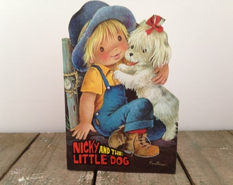 Nicky And The Little Dog Customizable Book Vintage 1960's