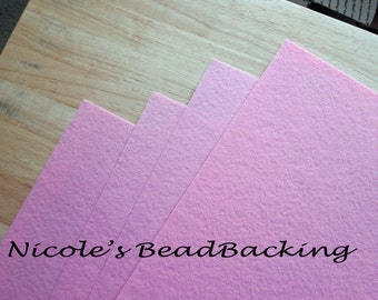 Beading Foundation Nicoles BeadBacking 4 pack 12x9 Pretty Pink