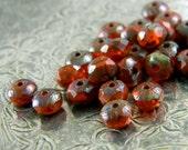 Autumn Spice (30) -Czech Glass Rondelles 5x3mm