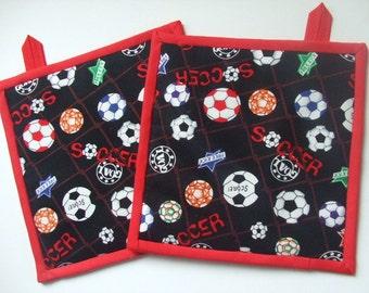 Fabric Potholders - Soccer - Set of 2, For Soccer Lovers