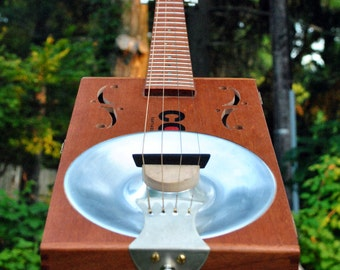 CBRG - Cigar Box Resonator Guitar - Acoustic/Electric - made to order
