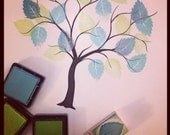 mini tree leaf rubber stamp great for wedding guest book