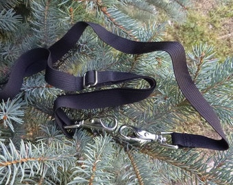 "Attachable Detachable Shoulder Strap, 3/4"" wide, heavy silver clips, Pick Your Color"