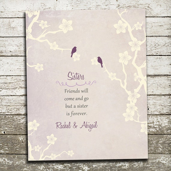 Thoughtful Wedding Gift For Sister : Gift for Sister Custom Print - Maid of Honor Wedding Gift - Best ...