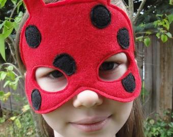 Ladybug Mask - Insect Mask - Lady Bug Costume - Bug Mask - Child Size - Halloween
