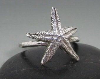 Fine Silver Starfish Ring