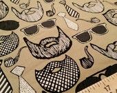 I Love Beards - Beard and Sunglasses - Yay for Hipsters - Custom Plus Size Skirt