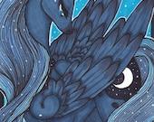 My Little Pony Friendship is Magic Princess Luna Professional ACEO Art Print