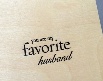 You Are My Favorite Husband, single letterpress card