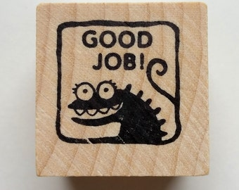 Good Job - Monster rubber stamp for teachers