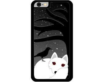 Phone Case - A Crow and His Wolf - Hard Case for iPhone 4, 4s, 5, 5s, 5c, SE, 6, 6 Plus, 7, 7 Plus - iPod Touch 4, 5/6 - Galaxy