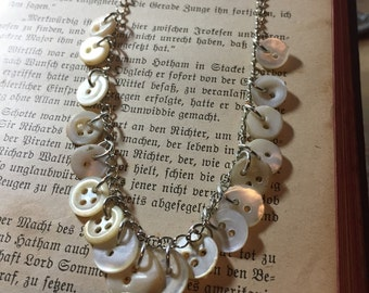 Teeny buttons necklace
