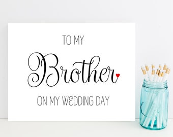Card for Brother on Wedding Day