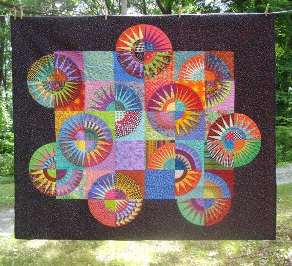 New York Beauty Quilt Twin/Large Wall Hanging