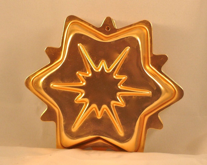Vintage Small Copper Star Molds Set of 6