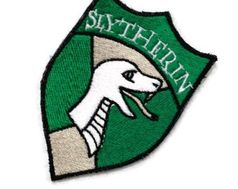 Slytherin Patch interpreted from Hogwarts and Harry Potter - Ready to Ship