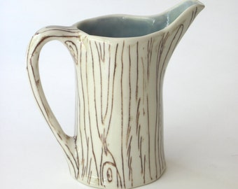 Made-To-Order Wishing Well Faux Bois Creamer