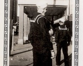 vintage photo 1944 Cutest Sailor Boy Turns Call this a sober moment in Okie City Wolfering