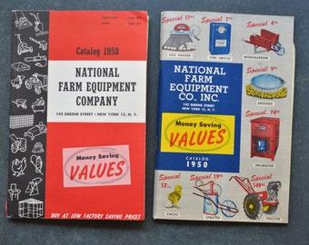 national farm equipment co, paper ephemera, vintage farm catalogs