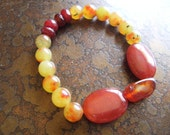 Leader of the Pack Agate and Jade Stretch bracelet