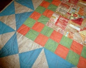 Tea for Two Quilt Table Topper  wall hanging
