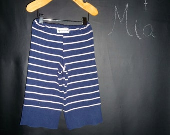 UPcycled and REcycled - Children sweater Pants - Will fit a size 6-12 month to 18 month - by Boutique Mia and More - Ready To Ship