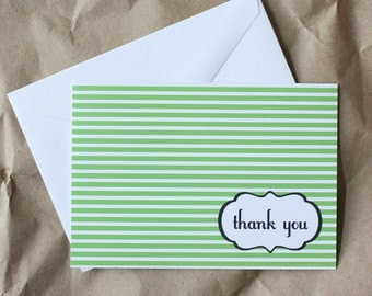 SALE - 50% OFF - Thank You Stripes (set of 12)