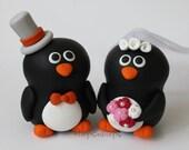 Customise Penguin Wedding Cake Topper (2.5 inch)