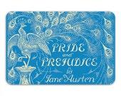 Jane Austen, Pride & Prejudice Memory Foam Bath Mat, Bathroom Rug - Printed in USA