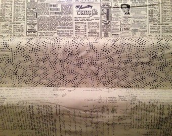 Modern Background Paper - By Zen Chic for Moda - Fat Quarter Set - 3 Prints - 7.50 Dollars