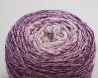 Purple Gradient Yarn-Smoky Eggplant-on Licorice Twist Merino Dk Yarn-4oz. 280 yards