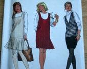 UNCUT 1992 7938 vintage jumper skirt sewing pattern, Simplicity sewing pattern, 12 14 16 18 sizes PP misses women, slim skirt jumper dress