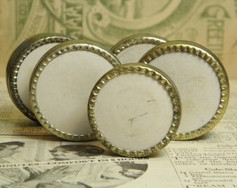 SALE Vintage 5 Watch Part Tins Containers