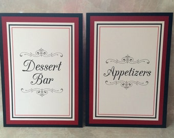 5x7 Custom Printed Flat Wedding Signs - Any Colors or Message