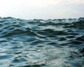 Large Format Abstract Seascape of a Blue Ocean Photograph - Within Waves 5 - Oversized Art