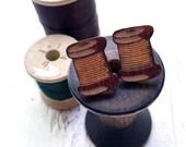 Laser Cut Earrings // Wood Spool Earrings