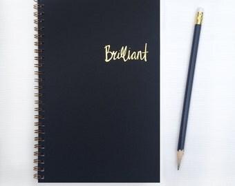 gold foil notebook - brilliant