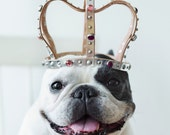 Leather crown, fit for baby, small kid or dog