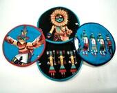 Kokopelii Cloth Coaster Set of 4    Set #35